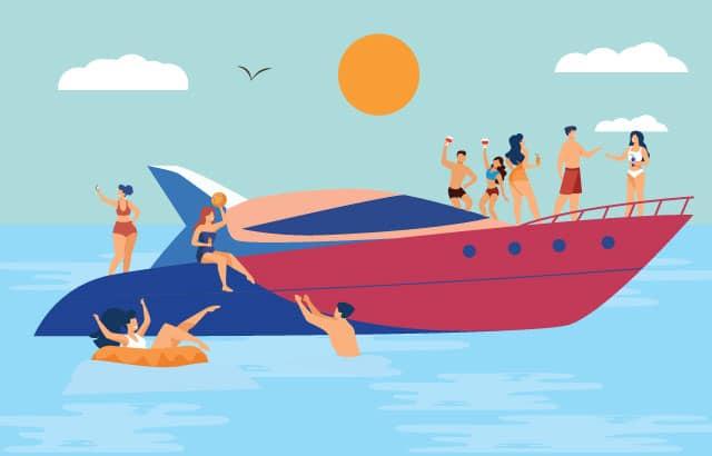 Boot feestjes Curacao